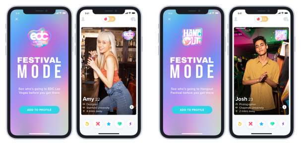 Tinder Launches New Feature For Music Festival Hookups